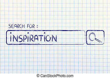 search engine bar, search for inspiration - search for...