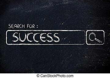 search engine bar, search for success - search for success,...