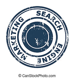 Search Engine Marketing concept stamp