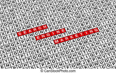 Search Engine Marketing (SEM) 3D illustration