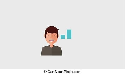 search engine optimization animation hd - portrait smiling...