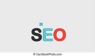 search engine optimization animation hd - seo text and...