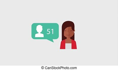 search engine optimization animation hd - young woman...