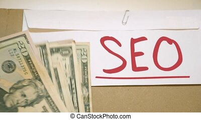 Search engine optimization concept - Cash payment for search...