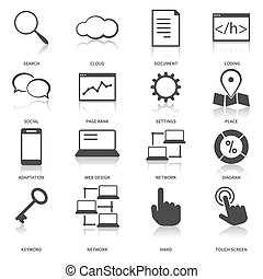 Search Engine Optimization Icons Set - Search engine ...