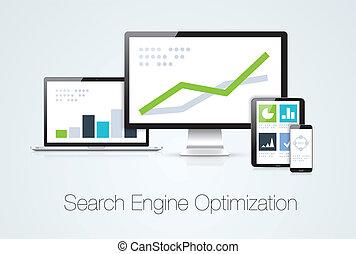 Search engine optimization marketing analysis vector