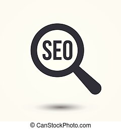 Search Engine Optimization SEO Word Magnifying Glass