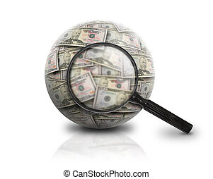 Search Finance Money Ball on White