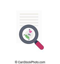 search  flat color icon