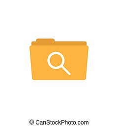 Search folder icon design template vector isolated