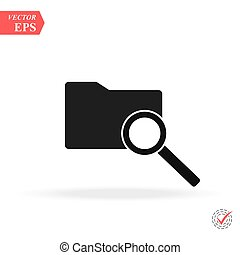 Search Folder Icon vector illusration on white background