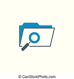 Search Folder related vector glyph icon.