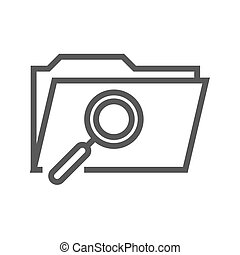 Search Folder Thin Line Vector Icon