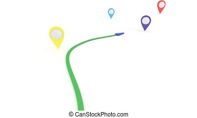 Search for a suitable way. Short route. GPS coordinates. - ...