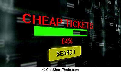 Search for cheap tickets progress bar