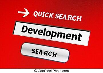 Search for development