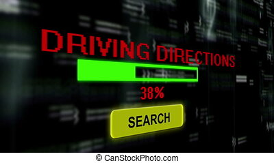 Search for driving directions online