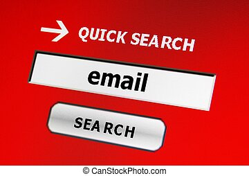 Search for e-mail