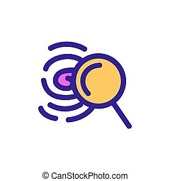 Search for fingerprint icon vector. Isolated contour symbol illustration