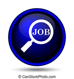 Search for job icon. Internet button on white background.