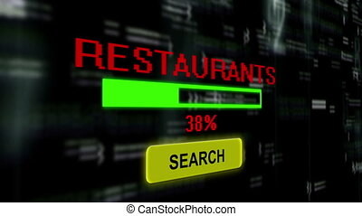 Search for restaurants online