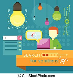 Search for Solutions Banner. Business Strategy