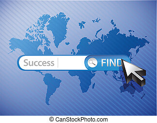 search for success blue business background