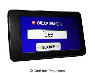Search for web idea