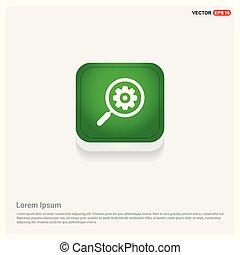 Search Gear Icon Green Web Button