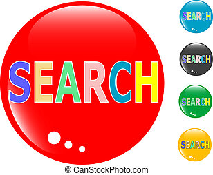 Search glass button icon