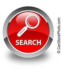 Search glossy red round button