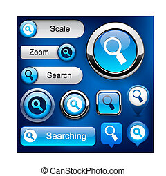 Search high-detailed web button collection.