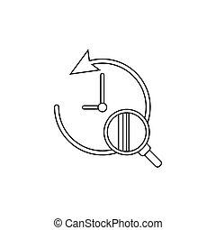 search history icon. vector illustration