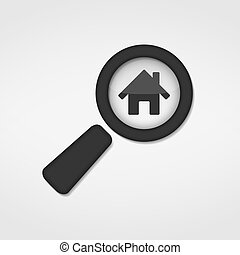 Search House - Search house icon, vector eps10 illustration
