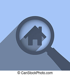 Search House - Search house concept, vector eps10...
