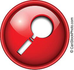 Search icon, button.