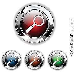 Search icon, button., vector illust