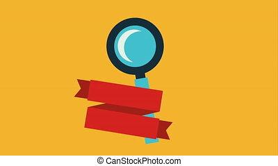 Search icon design, Video Animation