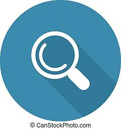 Search Icon. Flat Design.
