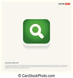 Search Icon Green Web Button