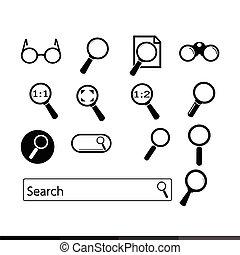 search icon illustration design