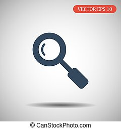 Search Icon in trendy flat style isolated on grey background. Magnifying glass symbol for your web site design, logo, app, UI. Vector illustration, EPS10.