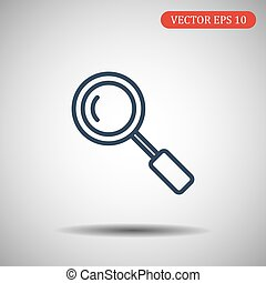 Search Icon in trendy thick line style isolated on grey background. Magnifying glass symbol for your web site design, logo, app, UI. Vector illustration, EPS10.
