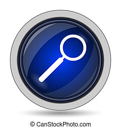 Search icon. Internet button on white background.