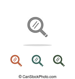 search icon isolated on white background