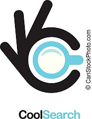 Search icon. Ok symbol, Okay vector logo, high quality