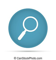 Search icon on a circle on a white background. Vector illustration
