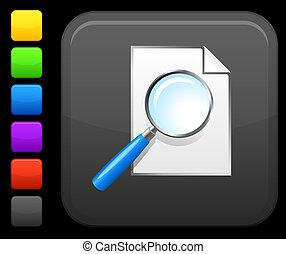 search icon on square internet button