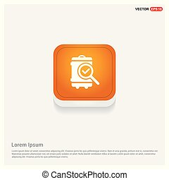 search icon Orange Abstract Web Button