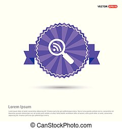 Search Icon - Purple Ribbon banner